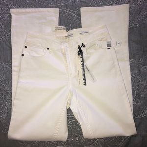 Jones New York White Stretchy Bootcut Jeans